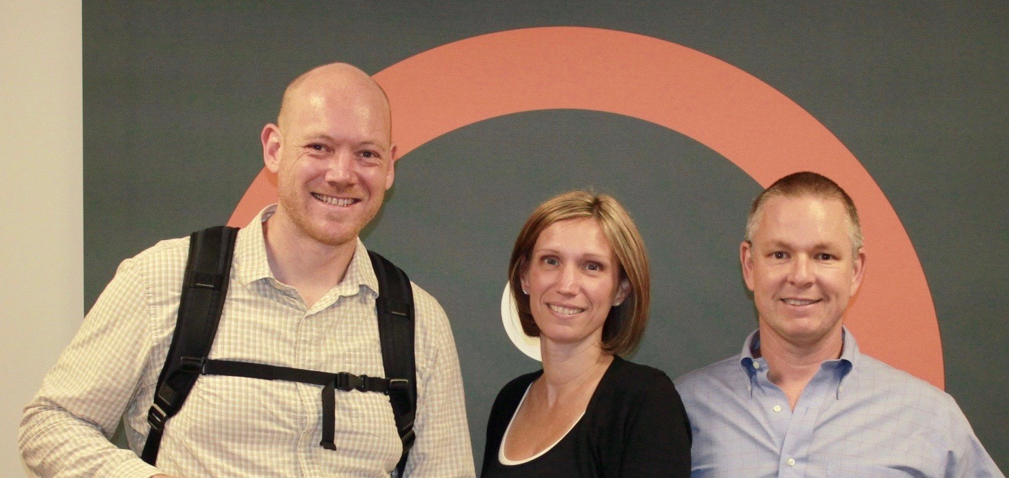 Pictured from left to right are Dan Favre, Executive Director of Bike Easy, Angie Scott, COO of Search Influence and Will Scott, CEO of Search Influence.